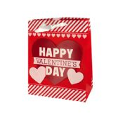 108 of Valentine's Day Striped Gift Bag