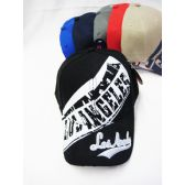 """48 of """"Los Angeles"""" Base Ball Cap With Assorted Colors"""