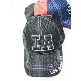 "36 of ""LA"" Mesh Base Ball Cap In Assorted Colors"