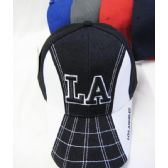 """48 of """"Los Angeles"""" Base Ball Cap White On The Sides"""