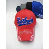 """36 of """"Los Angeles"""" Base Ball Cap In Assorted Colors Red, Blue, Black"""