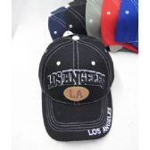 """36 of """"Los Angeles"""" Base Ball Cap With White Stitching"""