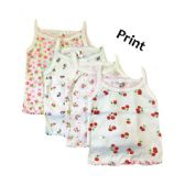36 of Strawberry Girl Infant Spaghetti Strap Singlet 0-9 Months In White