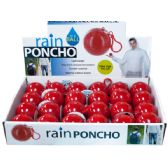 72 of Rain Poncho in a Ball Countertop Display