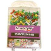 48 of 150PC PUSH PINS IN PLASTIC CASE