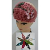 12 of Hand Knitted Ear Band [Flower with Lace]