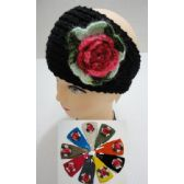 24 of Hand Knitted Ear Band w/ MultiColor Flower
