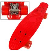 8 of Complete Plastic & Metal Skateboards- Red