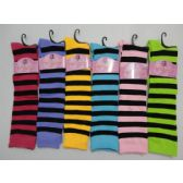 48 of 12 Inch Womens Knee High Socks With Stripes