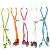 500 of 20 INCH 2 IN 1 HIGH SPEED CHARGING CABLES FOR I-5 / I-6 AND ALL OTHER NON-APPLE PHONES. ASSORTED COLORS. RETAIL PEG-ABLE