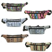 120 of FANNY BAG IN ASSORTED PRINTS AND COLORS