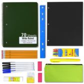 24 of 12 PIECE SCHOOL SUPPLY KIT