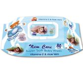 72 of New Care Baby Wipes With Lid Blue