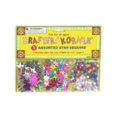 144 of Star-shaped craft sequins