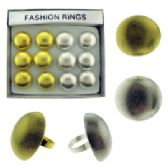36 of Silver and Gold Round Rings