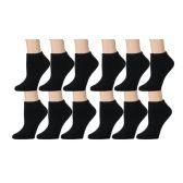 60 of SOCKSNBULK Boys Full Cushion Cotton Blend Black Ankle Socks
