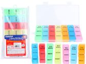 144 of 7 Days Pill Box W/Blister Card