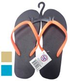 24 of LADIES FLIP FLOP ASSORTED SIZES 5-10 & COLORS
