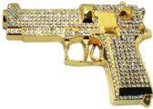 12 of Golden Rhinestone Gun Belt Buckle