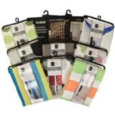 36 of Assorted Color and Design Fabric Shower Curtains