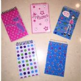 200 of SPIRAL NOTEPADS - ASSORTED PRINTS