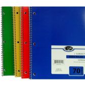 48 of 1 Subject Notebook, 70 Sheets, Wide Ruled