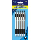 48 of Retractable Pen 5pk, Black Ink