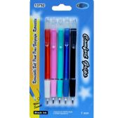 48 of Retractable Pens - 5 pack, All Black Ink