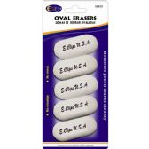 24 of Oval Shaped Erasers 5 Count - White