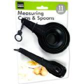 72 of 11pc Plastic measuring spoon set