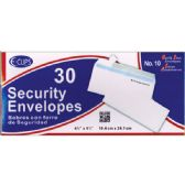 24 of Security Envelopes -30 ct - #10 - Self Seal