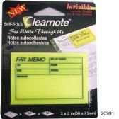 "36 of Self Stick Clear Note - Fax memo 2"" x3"""