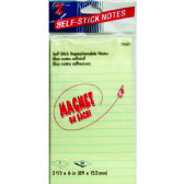 """36 of NotePad Magnetic Self Stick Pad 3 1/2"""" x 6"""" 50shts"""