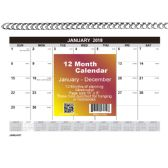48 of 2018 12 Month spiral wall calendar, 8X11, month per page