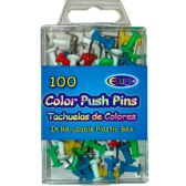 48 of 100 Count Assorted Color Push Pins