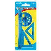 96 of 4 Piece plastic ruler set