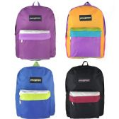 """24 of 17"""" Backpacks In 4 Assorted Colors - Case of 24"""
