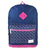 """24 of 17"""" Girls Backpacks In 2 Colors - Case of 24"""