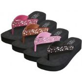 36 of Women's EVA Wedge Multi Color Stone Top Sandals