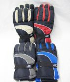 48 of Mens Winter Snow Glove Assorted Color