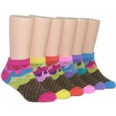 480 of Girls Ice Cream Cone Low Cut Ankle Socks