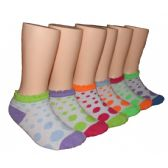 480 of Girls Polka Dot Low Cut Ankle Socks