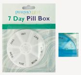 36 of PHARMACY BEST PILL ORAGANIZER 7 DAY ROUND 3.5 INCH ASTD COLORS