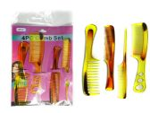 144 of 4pc Assorted Combs Set