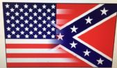 48 of .3'X5' Half and Half Confederate/American Flag
