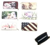 "24 of 7.5""X4"" ZIPPERED WALLET [ASSORTED PRINTS"