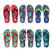 96 of Womens Flip Flop Assorted Palms