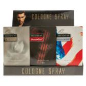 6 of 12 piece Counter Top Display 4 each of 3 fragrances For Men Our Versions of: CK One, Drakkar Noir, Polo Sport