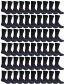 60 of Women's Sports Crew Socks, Wholesale Bulk Pack Athletic Sock Black