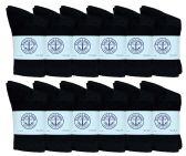 12 of Yacht & Smith Kids Premium Cotton Crew Socks Black Size 4-6